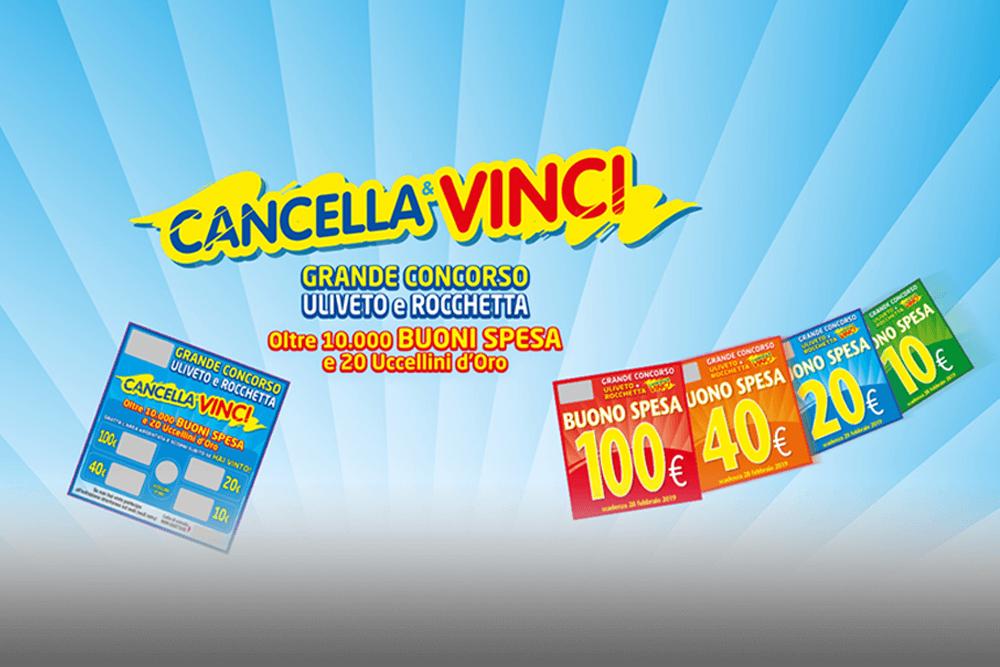"""Concorso """"Cancella e Vinci"""" Uliveto"""