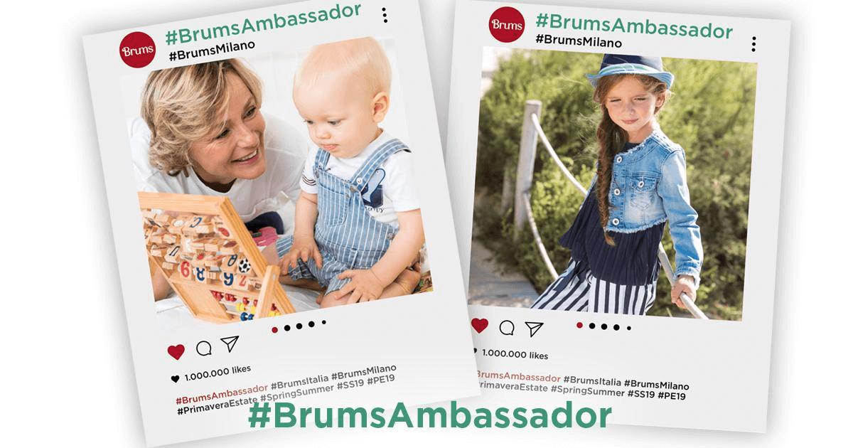Immagini social dell'ambassador brums con link per la case history